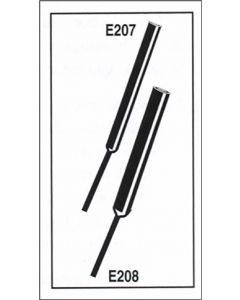 Model E208 Sensor Tip 2 x 4 mm (D x Thick) Epoxy Tube 5 x 50 mm (D x L)